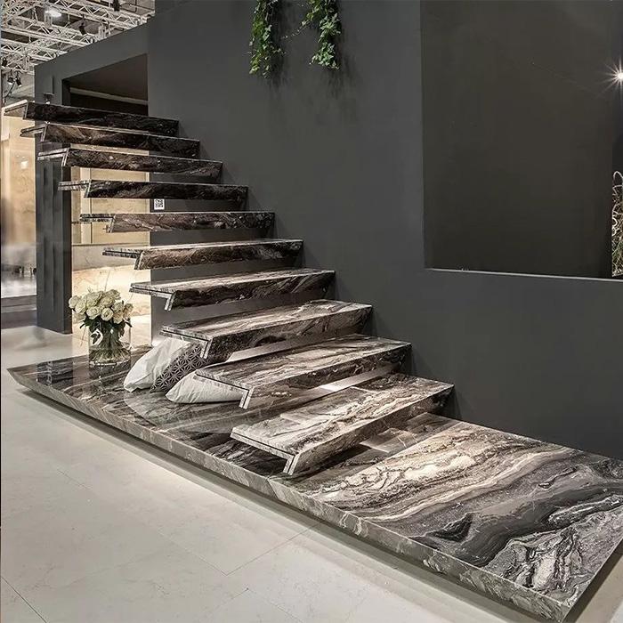 консольная лестница из камня