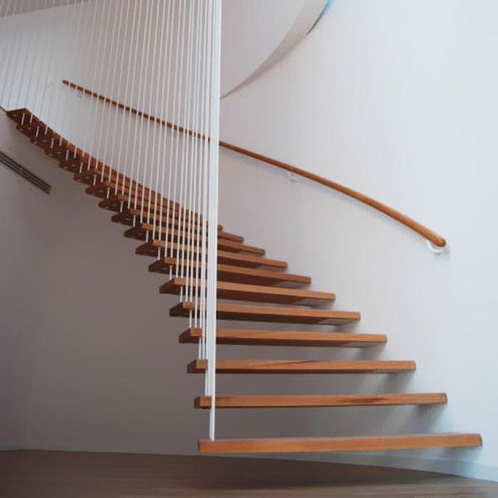 консольная лестница на подвесах